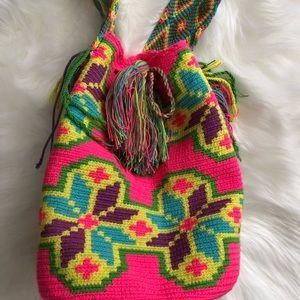 Handbags - Bright colors crotchet Mochila bag.